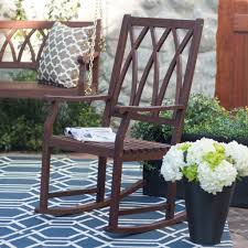outdoor furniture rocking chairs. Wood Ashbury Indoor/Outdoor Rocking Chair - Dark Brown Outdoor Furniture Chairs