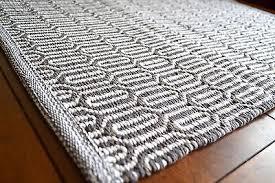 Tappeto Tessuto A Mano : Tappeto tessuto a mano cotone morbido pattern geometrico bianco