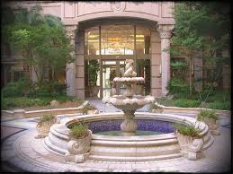 Elaine Yellen Landscape Design 33 Formal Front Yard Fountain Mediterranean Front Yard