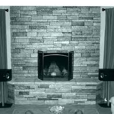 white and gray stone fireplace grey with black frame between shelves electric mantle ideas gray stone fireplace