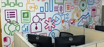 office wall mural.  Mural Office Wall Murals Spark Up Your Dull Walls With Colorful    Inside Office Wall Mural L