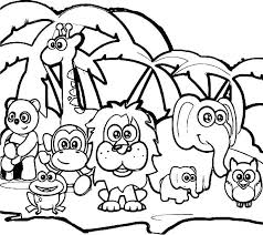 Forest Animal Coloring Page Coloring Pages Of Rainforest Animals Coloring Pages Animals Coloring