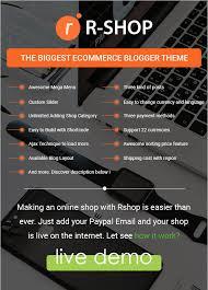 Free Ecommerce Website Templates Magnificent Rshop Ecommerce Responsive Blogger Template By Raintemplates
