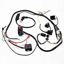 amazon com buggy wiring harness loom cdi coil spark plug for gy6 buggy wiring harness loom cdi coil spark plug for gy6 125cc 150cc chinese electric start kandi