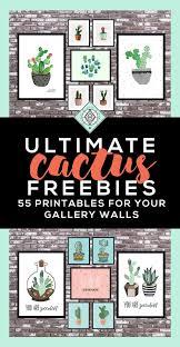 Cactus Art Roundup 55 Awesome Free Printables Printables