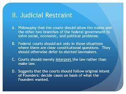 judicial activism v judicial restraint i judicial activism a  3 ii judicial