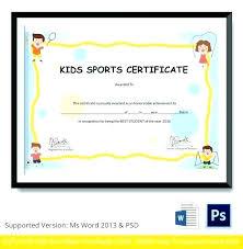 Sports Award Certificate Template Globalforex Info