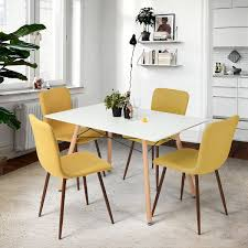 Yellow Chairs For Living Room Amazoncom Homycasa Set Of 4 Eames Style Fabric Cushion Chairs