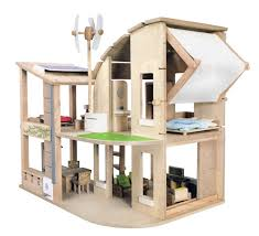 plan toys the green dollhouse with furniture furniture  amazon