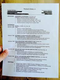Tom Brady Was Once An Intern At Merrill Lynch Here S His Resume