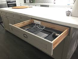 we implemented them into this latest kitchen redesign and were also launching docking drawer outlets in our 1900 cabinet series ensuring our customers can charging station kitchen central office