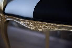 Pompöös By Casa Padrino Barock Esszimmerstuhl Mit Armlehnen Schwarz Weiß Gold Pompööser Barock Stuhl Designed By Harald Glööckler