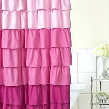 ruffle shower curtain ruffled pink blue light sh lindisfarne co