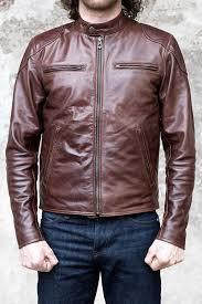 shangri la heritage cafe racer cowhide leather jacket brown 10