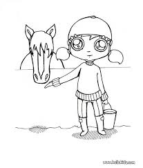 Small Picture Girl and horse coloring pages Hellokidscom