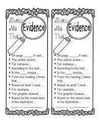 best literary essay ideas literary writing  the creative chalkboard showing evidence bie great for close reading and text based evidence be make into anchor chart instead