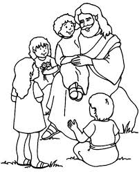 Printable Jesus Coloring Pages Loves The Little Children Coloring