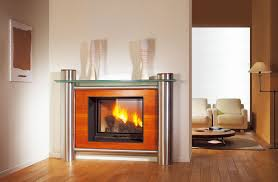 contemporary fireplace surround stainless steel
