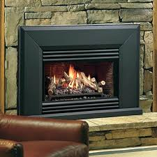 vented gas fireplace logs direct vent through roof insert