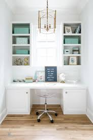 pinterest office desk. home office ideas built in desk white and aqua accessories the brass lantern is from pinterest