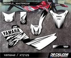 Yamaha Xtz 125 Decals Design Kit De Calcos Laminado Urbano Xtz 125 Diseños Ride
