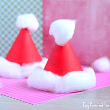 How To Make Hat With Chart Paper Paper Plate Santa Hats Craft Christmas Crafts For Kids
