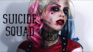 harley quinn squad makeup painted costume