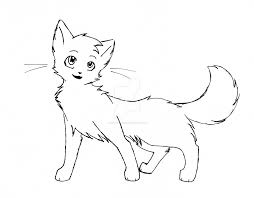 warrior cat drawing outline. Contemporary Cat Shecat Outline 1 By Leftysmudgez  Throughout Warrior Cat Drawing