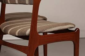 most comfortable folding chairs new mid century od 49 teak dining chairs by erik buch for