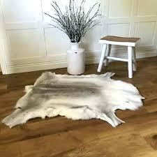 ideas small cowhide rug and cool white hide rug luxury reindeer large hide rug small black