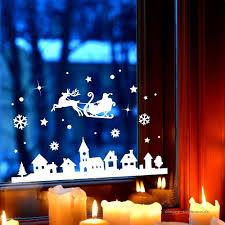 Fensterbild Weihnachtsmann An Weihnachten Winter Fensterdeko