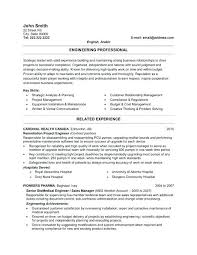 Professional Resume Formats A Professional Resume Template For A