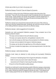 writing a reflective essay toreto co how to write essays s nuvolexa reflective essays powerful tips and ideas for students how to write a essay universi how to
