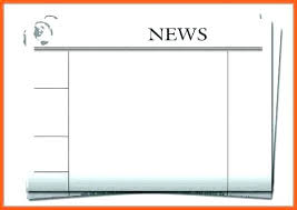 Teachers Newsletter Templates Blank Newspaper Template Front E Free Editable Newsletter
