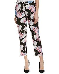 Vince Camuto Womens Poetic Bouquet Slim Leg Pull On Pants