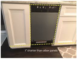 bosch panel ready dishwasher. Simple Dishwasher Panel Ready Dishwasher Needs Smaller Panel To Bosch Panel 2
