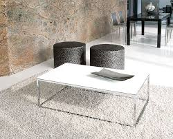 glass coffee table with chrome legs collection contemporary unico glass linear rectangle coffee table 20