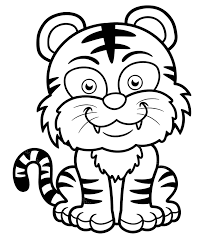 Tiger coloring pages when i was a kid, there was nothing more fun than diving into my coloring book. Printable Baby Tiger Smiling Coloring Page For Both Aldults And Kids