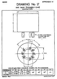 valve bases b8e 8 pin crt