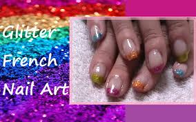 Glitter French - Nail Art Colorata! | Nail Art Facili! | Pinterest ...