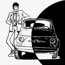 Quadro Lupin Su 500 Bianco E Nero Canvas Ritoccato A Mano 50x50 Cm Su Licenza