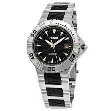 men s fendi watches shop the best deals for 2017 fendi men s f495110 nautical black dial stainless steel rubber swiss quartz watch