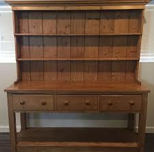 Kitchen Furniture Hutch Large Antique Pine English Pot Board Dresser Cupboard Kitchen