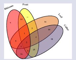 Parts Of A Venn Diagram Venn Diagram Represented The Unique And Common Compounds In