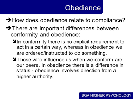 conformity obedience obedience