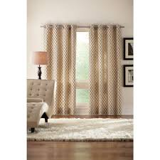 semi opaque cream ogee grommet curtain