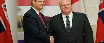 Image result for images rob ford stephen harper