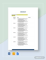 Free 48 Checklist Templates Examples In Pdf Google Docs