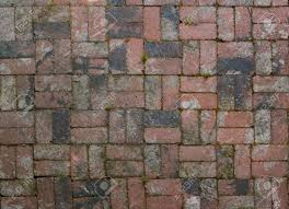 Brick Patterns For Patios Old Factory Brick Used In Alternating Pattern Patio Floor Stock