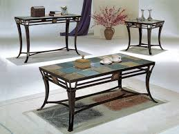 coffee table slate tile set tables for ashley